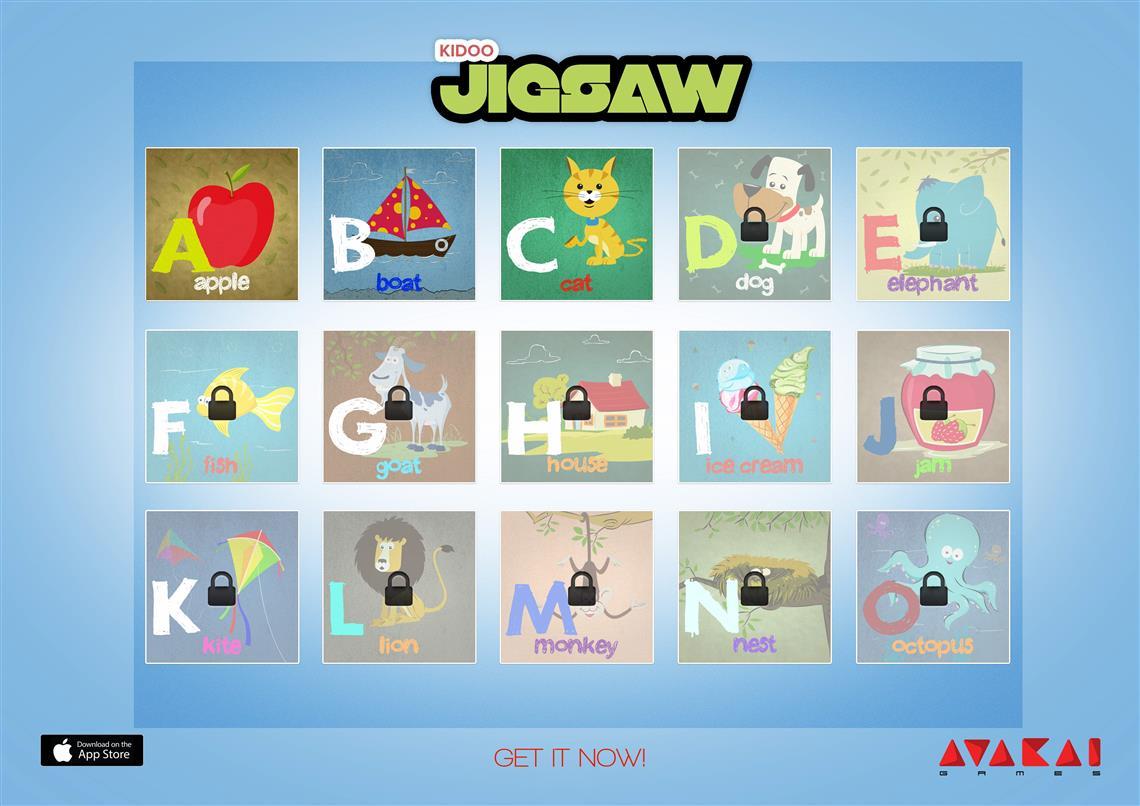 Kidoo Jigsaw, game levels, avakai games